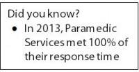Paramedic response time goals