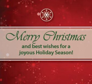 Merry Christmas and best wishes for a joyous Holiday Season!