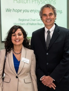 Halton Region's Medical Officer of Health, Dr. Hamidah Meghani and Regional Chair Gary Carr